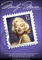 Marilyn Monroe Stamp by ~imwalkingwithaghost on deviantART  I loved this image - and its a free Mac Icon to download