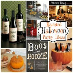 Boos and Booze * Haunted Halloween Drinks *