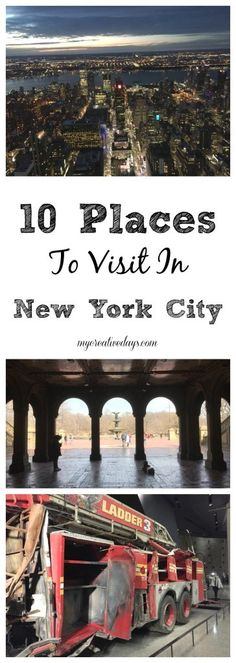 10 Places To Visit In New York City - Taking a trip to New York City? Check out these 10 Places To Visit In New York City from My Creative Days.