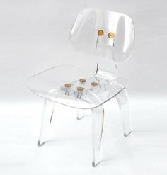 Handmade Acrylic Eames Style Lounge Chair by Aaron R. Thomas