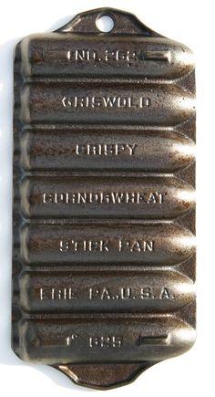 Antique rare No 262 Griswold Crispy Corn by SeaGlassPrimitives, $85.00 - http://accordingtobrian.com/castiron