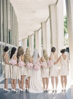 Cute bridal party photo. Photography By / carolinetran.net, Coordination Floral Design By / hiddengardenflowers.com