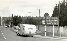 On this day (October in the Peace Arch Highway was renamed the King George VI Highway. Today, it's King George Boulevard. Browse some archive photos of the thoroughfare. Suspension Bridge Vancouver, New West, Local History, King George, Historical Pictures, Vancouver Island, Surrey, British Columbia, Recreational Vehicles