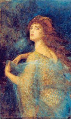 Arthur Hughes - The Enchantress, 1870-1874