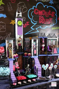   How to Host a Ghouls Rule Monster High Party!   http://soiree-eventdesign.com