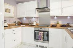 Dewsbury Road, Wakefield, West Yorkshire by Barratt Homes. Kitchen Interior, New Kitchen, Kitchen Dining, Kitchen Decor, Kitchen Cabinets, Kitchen Ideas, Dining Room, Barratt Homes Interiors, Rochester Homes