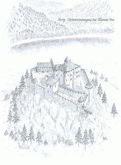 Castle Hohenschwangau Mittelalterliche Burg Schlosszeichnung Fantasy Kunstprojekte