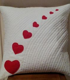 Love Harts Cushion Cover by JELLYCOTTONQUILTS on Etsy