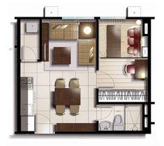 25sqm Floor Plan for studio