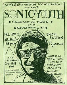 sonic youth rule | Old Sonic Youth handbill