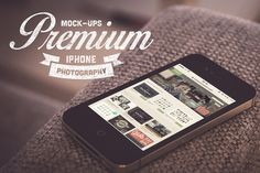 Real iPhone Photography Mock-Ups by Lucas Alexander on Creative Market