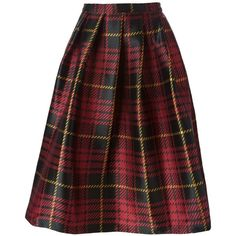 Sofie D'hoore Plaid Jacquard Skirt ($472) ❤ liked on Polyvore featuring skirts, bottoms, black, black jacquard skirt, jacquard skirt, sofie d'hoore, multi color skirt and black skirt