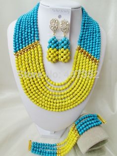 Online Shopping at a cheapest price for Automotive, Phones & Accessories, Computers & Electronics, Fashion, Beauty & Health, Home & Garden, Toys & Sports, Weddings & Events and more; just about anything else Yellow Turquoise, Turquoise Beads, Blue Yellow, Wedding Events, Weddings, Costume Jewelry Sets, African Beads, Garden Toys, Phone Accessories