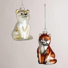 artcic fox christmas tree ornament - Google Search