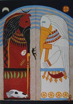 "#Perun , #Veles , #mythology , #pagan , #slavic_mythology , #pagan_mythology , #slavic_gods   ""Perun and Veles"" http://vesemir.blogspot.ru/2015/06/blog-post_8.html Made to order. Acrylic paints on canvas, A3"