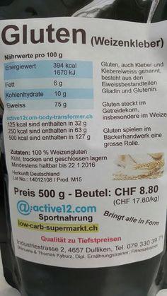 Gluten nun auch im 500 g - Beutel im Sortiment