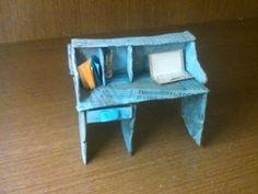 Мини-стол из картона своими руками