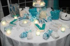 wedding reception candy buffet ideas - Google Search