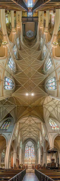 Majestic New York church ceilings