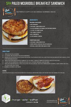 SFH BLOG: SFH Paleo McGriddle Breakfast Sandwich