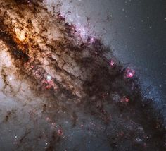 The NASA/ESA Hubble Space Telescope has produced a close-up view of the galaxy Centaurus A. Hubble's out-of-this-world location and world-class Wide Field Camera 3 instrument reveal a dramatic picture of a dynamic galaxy in flux. Telescope Images, Hubble Space Telescope, Nasa Space, Cosmos, Stars Night, Theme Galaxy, Astronomy Pictures, Star Formation, Space Photos
