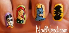 bat man nail art (14)