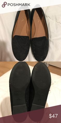Brand new black loafers! Super cute brand new black loafers! Never worn before. Small black crystals all over the shoe giving it a super cool look! Shoes Flats & Loafers
