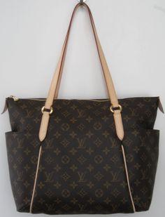 e4cb79321da Louis Vuitton signature monogram canvas  Totally MM  tote. Multi brown  canvas with 2