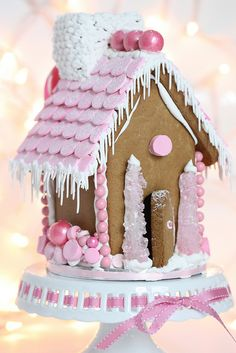 pink gingerbread house by sweetopia*, via Flickr