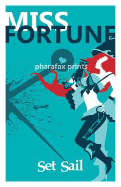 Miss Fortune League of Legends Print by pharafax on Etsy, $16.00