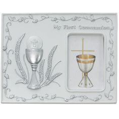 Catholic Girls or Boys First Communion Photo Frame Plaque - Silver Resin Boys or Girls First Communion Folding Photo Frame Plaque. This Beautiful Photo Frame Plaque Comes Packaged in a Gift Box and is Made In The USA. MV001 http://www.amazon.com/dp/B00JK0N89Q/ref=cm_sw_r_pi_dp_QbNnvb19YGK60