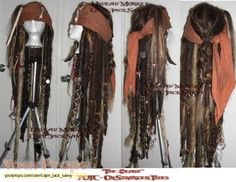 Pirates of the Caribbean: On Stranger Tides Captain Jack Sparrow wig replica movie costume Jack Sparrow Cosplay, Jack Sparrow Costume, Homemade Pirate Costumes, Diy Costumes, Woman Costumes, Couple Costumes, Group Costumes, Adult Costumes, Costume Halloween