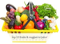 The top 15 fruits and vegetables to use when juicing.  Get them here! www.all-about-juicing.com