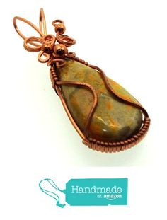 Bumble Bee Jasper Gemstone Copper Wire Wrapped Pendant from Angelleesa Designs https://www.amazon.co.uk/dp/B01LZNCDKX/ref=hnd_sw_r_pi_dp_4xM7xb36VQWD4 #handmadeatamazon