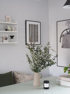 How to update your home this summer without buying anything new. Fresh greenery in the home, black and white prints