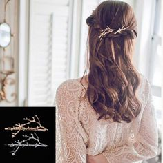 TOMTOSH New Antlers branch alloy side folder Princess clip Hair Accessories wholesale Wedding Jewelry #Affiliate