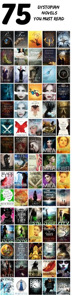 75 dystopian novels you must read is part of Dystopian books - A list of dystopian novels you must read Ya Books, I Love Books, Good Books, Books To Read, Teen Books, Book Suggestions, Book Recommendations, Reading Lists, Book Lists