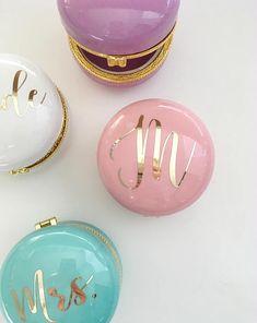 Bridesmaid Jewelry Box | Bridesmaid Ring Box | Macaron Box | Wedding Ring Box | Gift from Bride | Bridal Party Gifts | Ring Dish