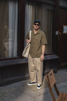 Indie Fashion Men, Streetwear Fashion, Retro Outfits, Vintage Outfits, Stylish Mens Outfits, Japanese Street Fashion, Japan Fashion, Facon, Men Looks