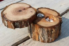 Ring Box Rustic Wood Ring Bearer Pillow by MountainUrsusDesigns