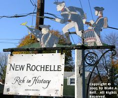 """""""New Rochelle Rich in History"""" a Sign by  Norman Rockwell."""