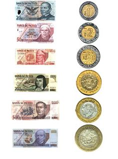 The official currency of Mexico is the Mexican Peso. One American dollar equals Mexican Pesos. Mexican Peso, Spanish Speaking Countries, Foreign Coins, Show Me The Money, Mexican American, World Coins, How To Speak Spanish, Mexico Travel, Coin Collecting