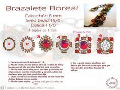 Brazalete Boreal  con cabuchón de 8 mm r/15 y d/11