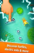 Move Taddy the Tadpole around the screen, avoiding obstacles along the way.