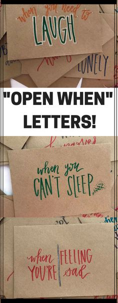 "These ""open when"" letters are perfect gifts! Great for Military deployment, relationships, care packages, long distance relationships, going away gift and so much more!! Love these, and you can even customize your pack 