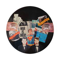 Pet Shop Boys, Actually | colagem sobre vinil, 2015 por pedroluiss