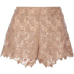 VERSACE patterned lace shorts (3,495 CNY) found on scalloped shorts扇形短裤20130329