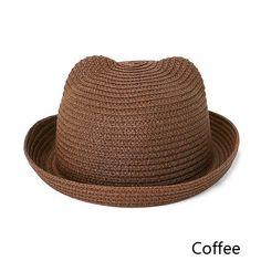 850ffdd443ec3 MOLIXINYU Fashion Ears Straw Hats Baby Hats For Girls Bucket Hat Boys Cap Children  Sun Summer