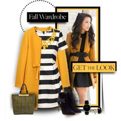 Mustard Coat, created by tracireuer on Polyvore