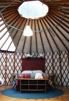 yurt >> I have been dreaming of yurts for many years now. Someday I will own my own little plot of land in the middle of nowhere and my little yurt will be my home away from home.